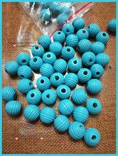 Perla rigata 14 mm. colore celeste