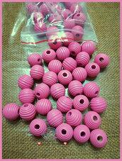 Perla rigata 14 mm. colore rosa scuro