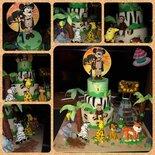 Torta Mickey safari per primo compleanno