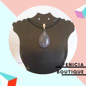 """Collana con Pietra """"Agata Grigia"""", Cristalloterapia"""