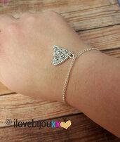 Bracciale PIZZA fetta Argento ciondolo Amicizia Regalo Uomo Donna Migliore amica Pizzaiolo braccialetto