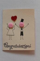 Biglietto Auguri Matrimonio - Bottoni