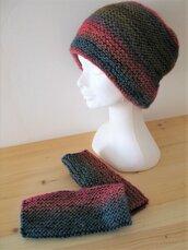 Set berretto e copripolsi in lana - cuffia in lana - guanti senza dita