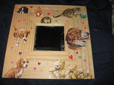 specchio cuccioli e cuori