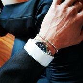 Bracciale da uomo con smeraldi e pepite in argento puro e massiccio, elegante, fatto a mano, regalo per lui