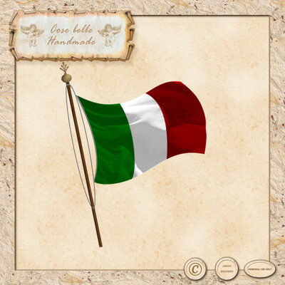 Bandiera Italiana Clipart digitale