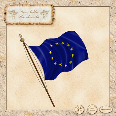 Clipart digitale della bandiera europea