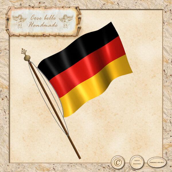 Bandiera della Germania clipart digitale
