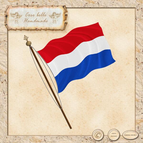 Bandiera dell'Olanda clipart digitale