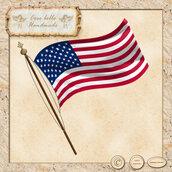 Bandiera degli Stati Uniti clipart digitale