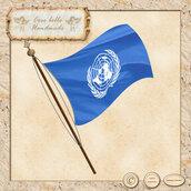 Bandiera dell'ONU, Nazioni Unite, clipart digitale