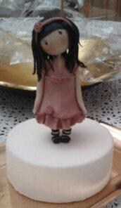 Bambolina Gorjuss in pasta di zucchero