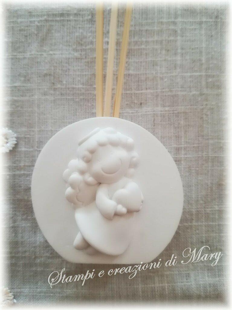 Stampo profumatore diffusore con angelo in silicone diametro 6 cm