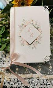 Libretto Messa con fiori rosa cipria