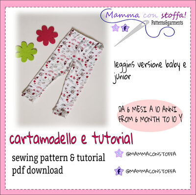 cartamodello leggins bambina da taglia 6 mesi a 10 anni