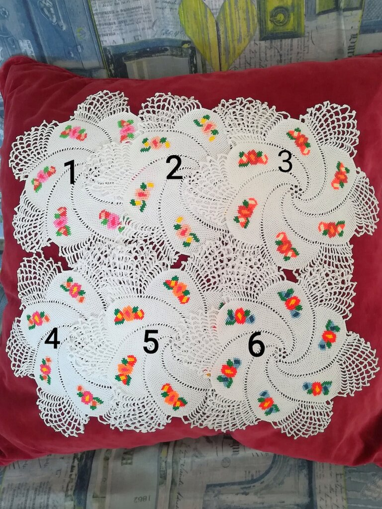 Coasters with embroidery § Sottobicchieri con ricamo