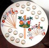 Set personalizzato coordinato 100 pz. (Tags,etichette adesive,etichette,topper) tavolo confettata festa party a tema..nozze..battesimo..compleanno..laurea