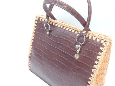 Maxi bag coccodrillo