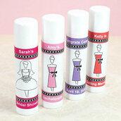 Set di 10 Balsamo labbra Lipstick  burro cacao ringraziamento etichetta personalizzata festa, party, compleanno,nozze,battesimo