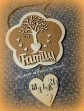 Targhetta Family in legno