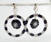 Orecchini bicolore a cerchio in alluminio