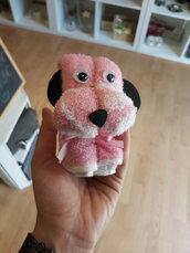 Asciugamano/lavette a forma di cagnolino