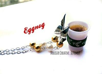 NATALE IN DOLCEZZE - Collana EGGNOG - bevanda natalizia Gran Bretagna - idea regalo natale - handmade - kawaii
