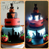 Cake topper a tema New York/Halloween