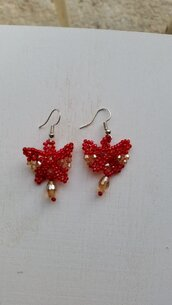 Orecchini farfalline rosse