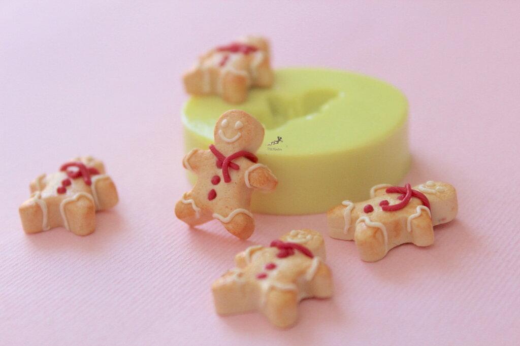 Stampo Gingerbread Natale,Stampo Silicone,Stampo Per Il Fimo,Stampini,Stampini Fimo,Stampo,Stampi,Stampo Gioielli,Stampo Resina,Stampo Sapone,Stampo Dollhouse Miniature,Stampo Fondente,Silicone-ST642