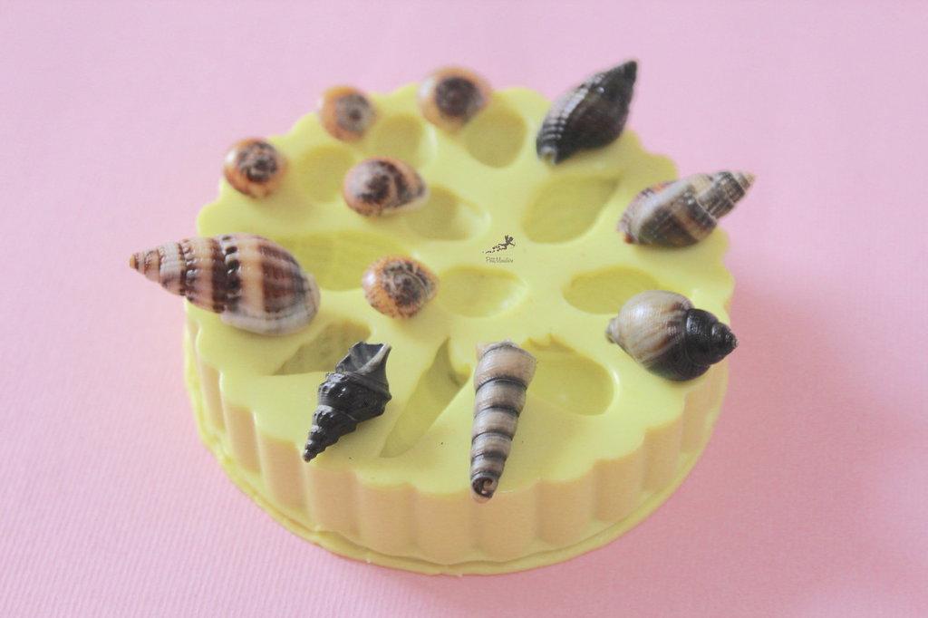 Set Stampo Conchiglie Mare-Stampi in silicone-Stampi per il fimo-Stampo Gioielli-Stampi Silicone-Stampini Silicone-Stampi Fimo-Resina-SET001