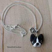 Collana boston terrier in fimo