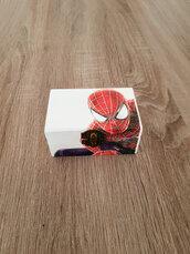 scatola legno spiderman