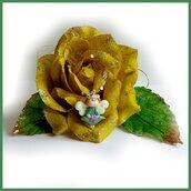 """Ciondolo Natale FufuAngel """" Verde """"idea regalo bambina ragazza donna fimo cernit angioletto natalizio portafotuna ali fluo"""