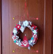 dietroporta fuoriporta Natalizio ghirlanda natalizia in Pannolenci e decorazioni varie