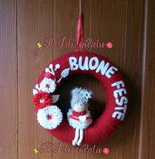 dietroporta fuoriporta Natalizio ghirlanda natalizia buone feste