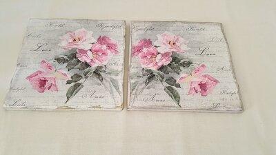 coppia quadri rose