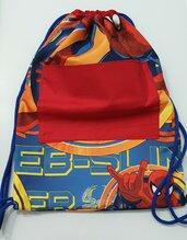 Zainetto a sacca personalizzabile tessuto Spiderman