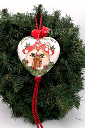 Decorazioni natalizie in ceramica/Cuore in ceramica natalizio