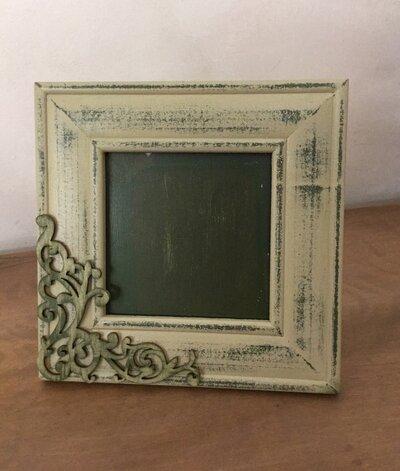 Portafoto quadrato verde