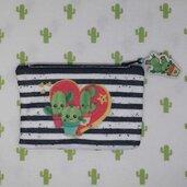 pochette in feltro cactus