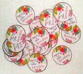 Bigliettini etichette TAGS fenicottero festa tema tropicale matrimonio compleanno