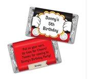 Set n. 5 cioccolatini segnaposto bomboniera mini barretta etichetta personalizzata feste party matrimonio 18esimo compleanno 1° Anno
