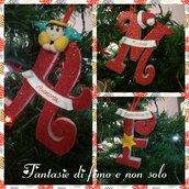 Lettere in legno natalizie