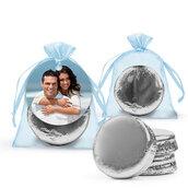 Sacchetti bustine segnaposto regalini  organza cioccolatini personalizzati idea originale matrimonio nozze