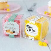 Bustina scatola bomboniera segnaposto idea originale confetti personalizzati cubo matrimonio battesimo