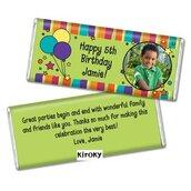 Set di 10 tavolette barrette cioccolato con etichetta personalizzata con foto  Party Festa compleanno matrimonio