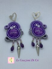 Heart in violet