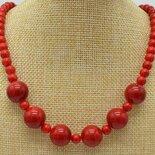 Collana donna con perle 6-14 mm di vero corallo rosso naturale chakra cristalloterapia
