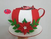 Tazza Porta cialde/capsule in feltro natalizia